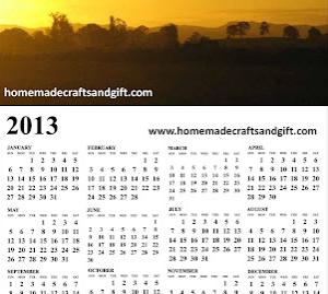free homemade calendar 2013 design - 4