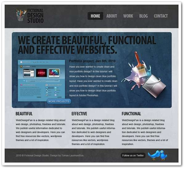 Free Modern Design Studio PSD Template