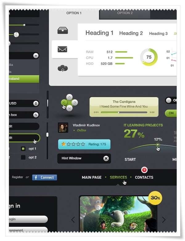 Futurico – Free User Interface Elements Pack