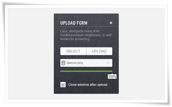 How to Create an Upload Form using jQuery CSS3 HTML5 and PHP image