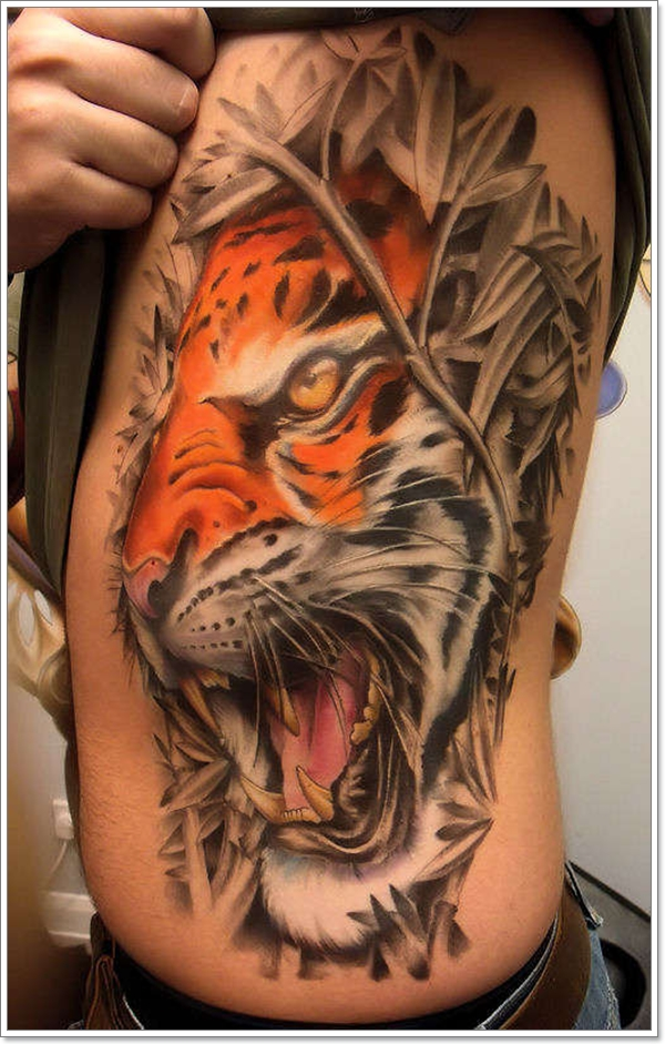 Lion-Tattoos-Design-on-Ribs-Latest-Collection-2011