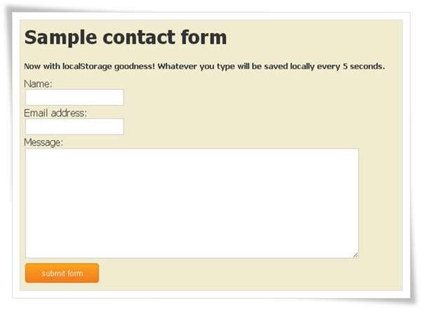 Make Disaster-proof HTML5 Forms
