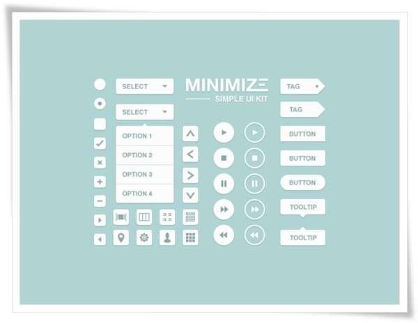 Minimize UI Kit – Free PSD