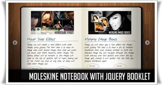 Moleskine Notebook with jQuery Booklet