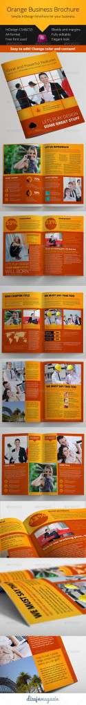 Orange Business Brochure InDesign Template - GraphicRiver Item for Sale