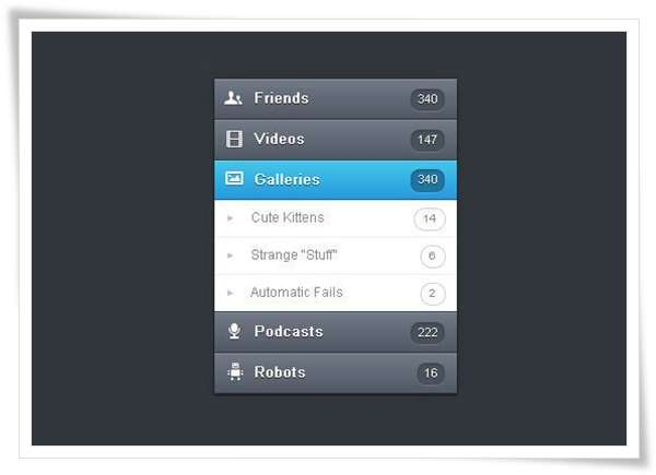 Orman Clark's Vertical Navigation Menu The CSS3 Version image