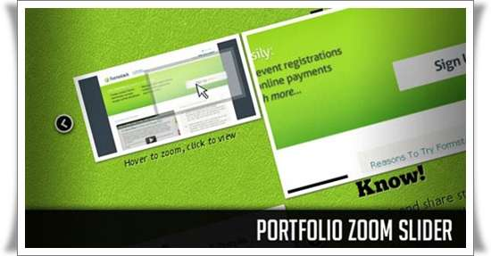 Portfolio Zoom Slider with jQuery