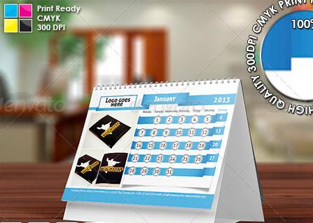 2013 desktop calendar template