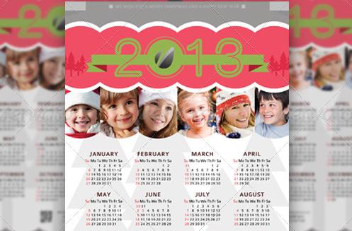 greeting A4 calendar