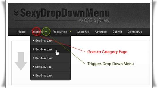 Sexy Drop Down Menu w jQuery & CSS