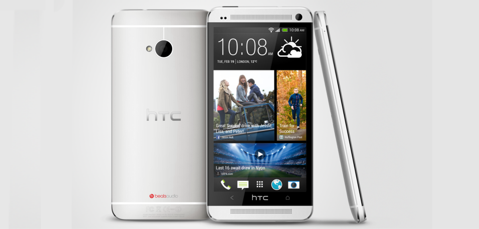 Silver sleek HTC One Smartphone