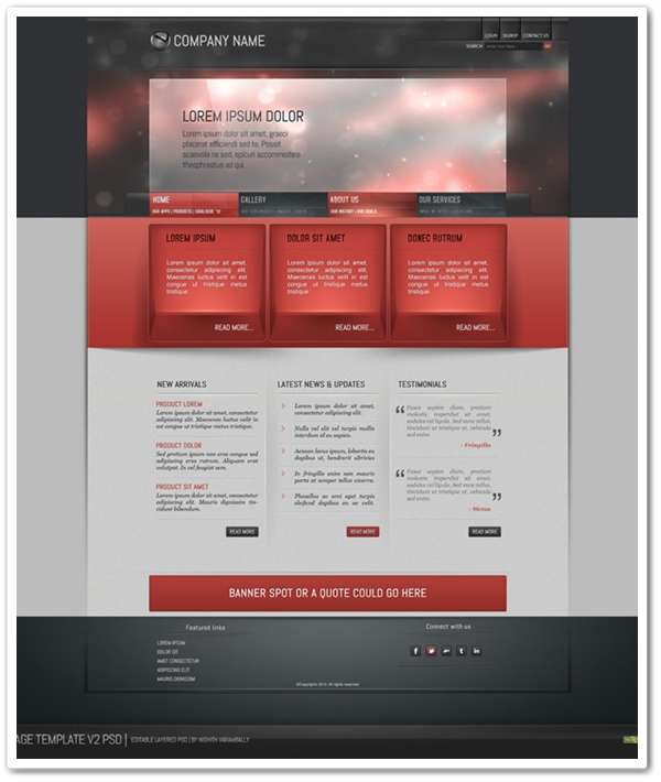 Simple webpage template