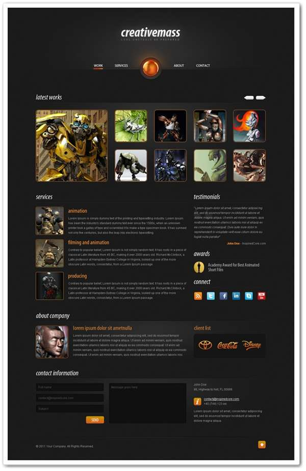 Stunning One-Paged Website Template