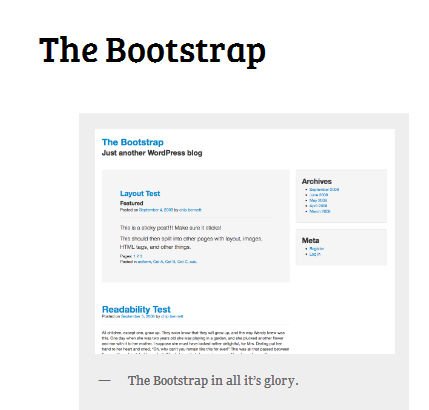 the bootstrap