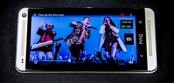 display of HTC One Smartphone