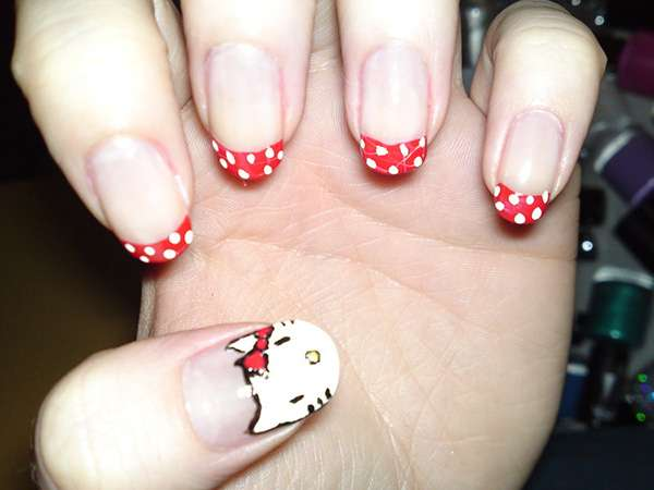 Acrylic New Nail Art Designs 2013 kitten (13)