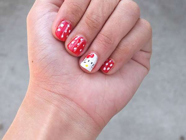 Acrylic New Nail Art Designs 2013 kitten (8)