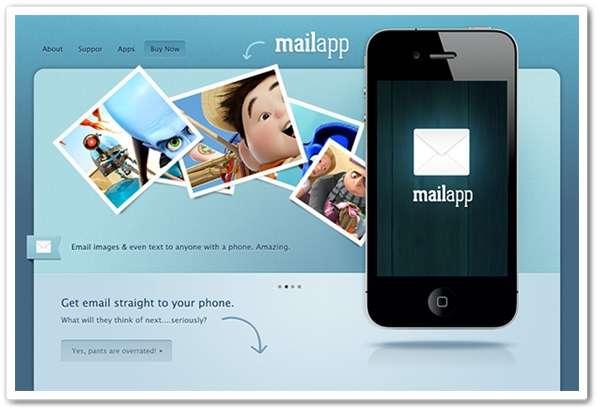 iPhone App website template