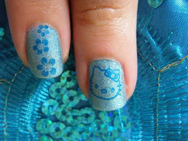 Acrylic New Nail Art Designs 2013 kitten (6)
