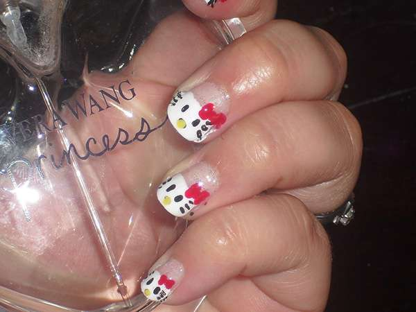 Acrylic New Nail Art Designs 2013 kitten (5)