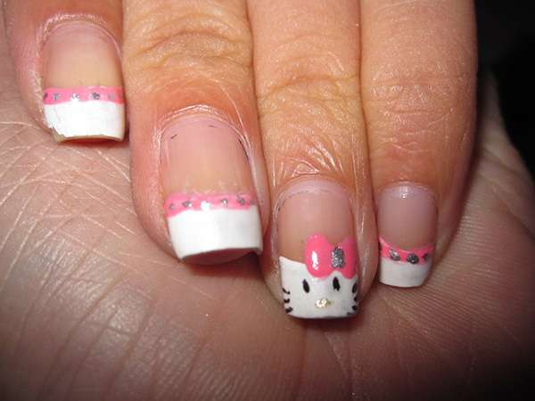 Acrylic New Nail Art Designs 2013 kitten (3)