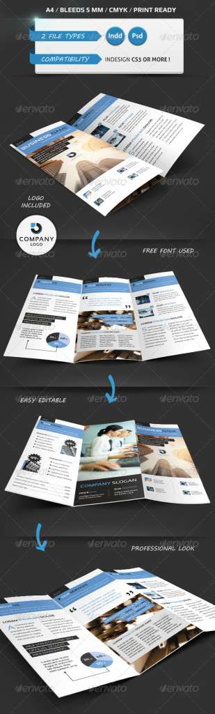 Modern Trifold Brochure A4 - GraphicRiver Item for Sale