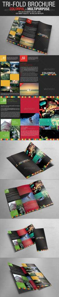 Tri Fold Brochure - Colorful Multipurpose - GraphicRiver Item for Sale