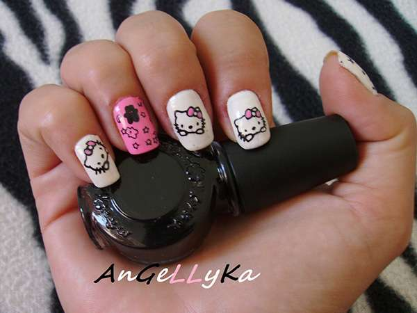 Acrylic New Nail Art Designs 2013 kitten (2)