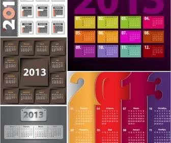 vivid 2013 calendar templates vector
