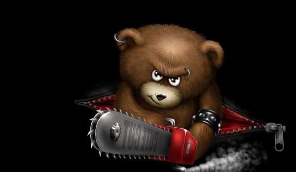 Funny Angry Bear Wallpaper