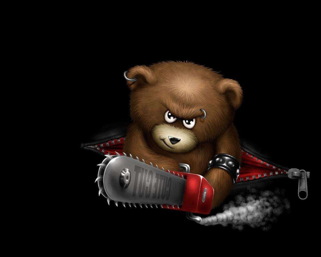 Funny Angry Bear Wallpaper