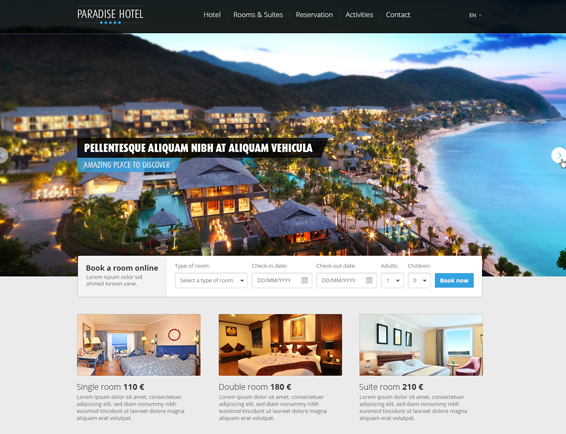 Free Hotel Website Template