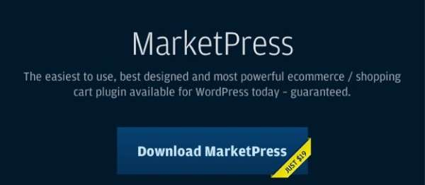 WordPress MarketPress Plugin WPMU Dev 600x262 image