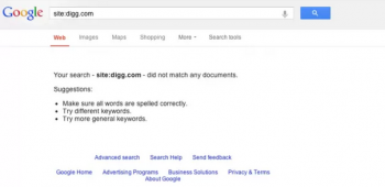 digg de indexed by Google