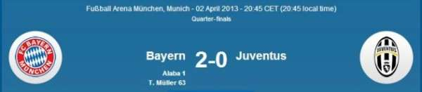 Bayern vs Juventus UEFA Champions League