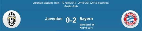 Bayern vs Jeventus UEFA Champions League