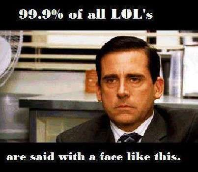 90% of faces are like this when they say LOL