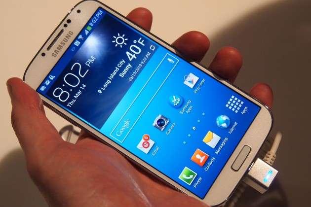 Samsung Galaxy S4 angled image
