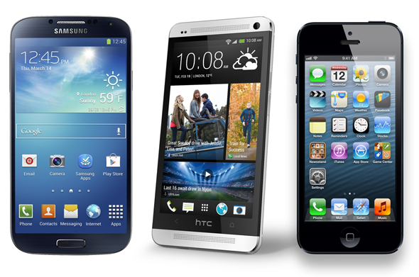 iPhone 5 vs Samsung Galaxy S4 vs HTC One Specs Comparison 1 image