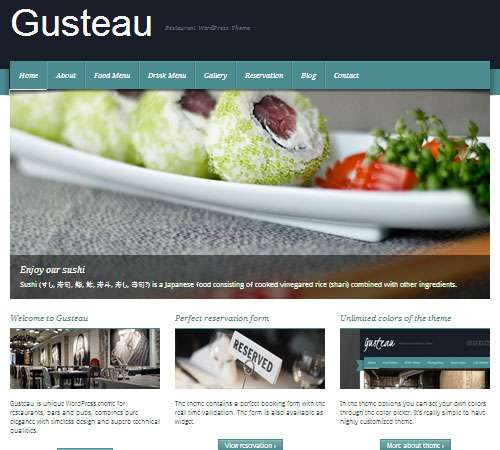 Gusteau: Restaurant WordPress Theme
