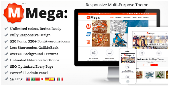 Mega Responsive Multi-Purpouse Theme - Business Corporate