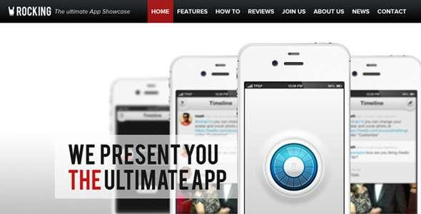 Rocking Parallax iPhone App Showcase WordPress - Technology WordPress
