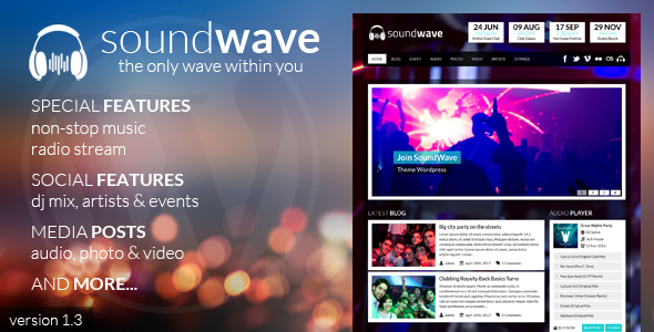 SoundWave - The Music Vibe WordPress Theme - Nightlife Entertainment