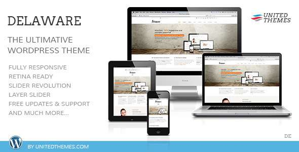 Delaware Responsive Retina WordPress Theme - Corporate WordPress