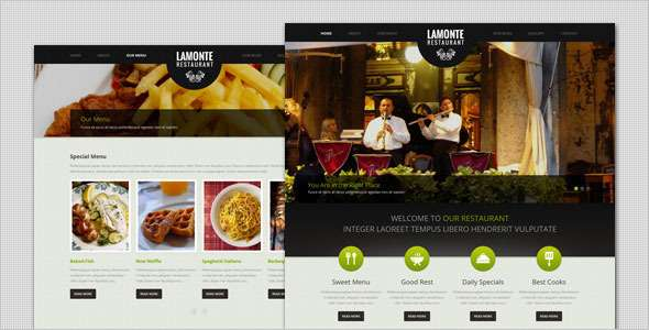 LaMonte - Modern Restaurant WordPress Theme - Restaurants & Cafes Entertainment