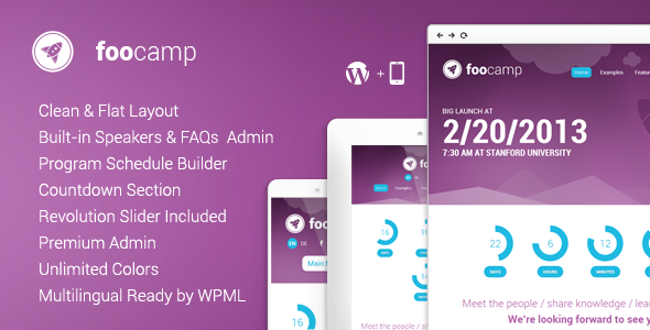FooCamp: Conference WordPress Theme - Miscellaneous WordPress