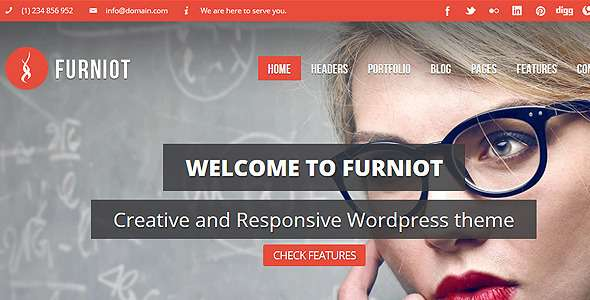 Furniot - Responsive Multi-Purpose WordPress Theme - Corporate WordPress