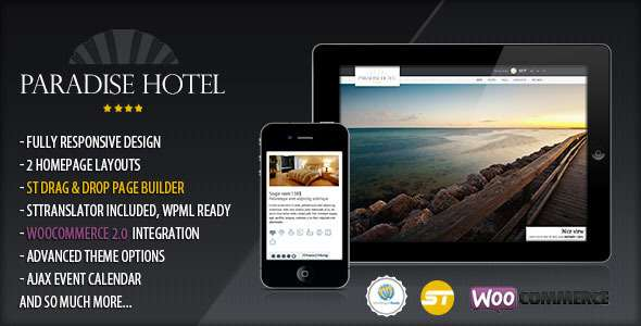 Paradise Hotel - Responsive WordPress Hotel Theme - Travel Retail
