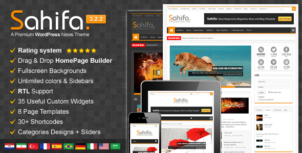 Sahifa - Responsive WordPress News,Magazine,Blog - News / Editorial Blog / Magazine