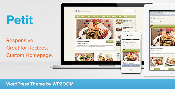 Petit - Recipe WordPress Theme - Food Retail